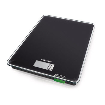 Soehnle Page Compact 100 Glass Digital Kitchen Scale 20 x 16 Black