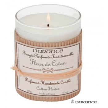 Durance Scented Candle - Cotton Flower