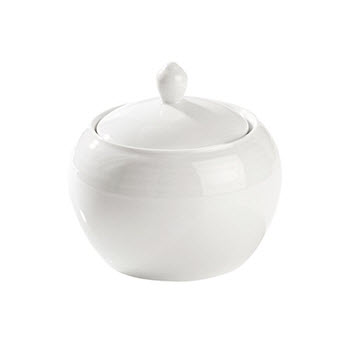 Noritake Arctic White Sugar Bowl with Lid