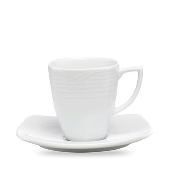 Noritake Arctic White Coffee Cup & Saucer Set of 4