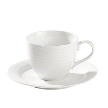 Noritake Arctic White Large Tea Cup & Saucer Set