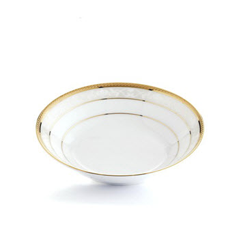Noritake Hampshire Gold Porcelain Dessert Bowl 14cm White