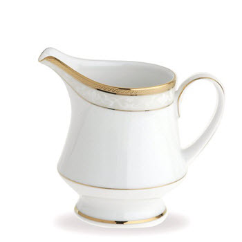 Noritake Hampshire Gold Porcelain Creamer 235ml White
