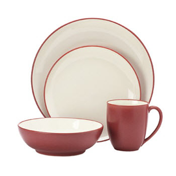Noritake Colourwave Dinner Set 16 Piece Raspberry Bowl