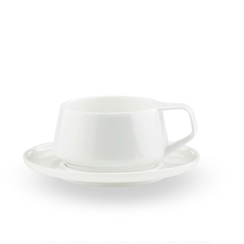 Noritake Marc Newson Fine Bone China 2 Piece Cup & Saucer Set White