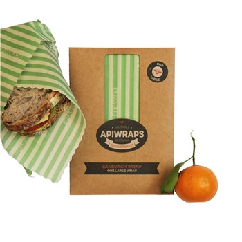 Apiwraps Beeswax Wraps Reusable Sandwich Wrap Large