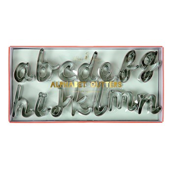 Meri Meri 27 Piece Alphabet Cookie Cutter Set