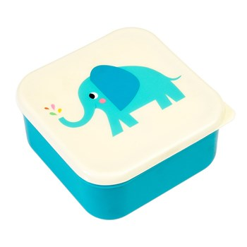 Rex Back To School 3 Piece Snack Box Set 12 x 12 x 6cm Elephant