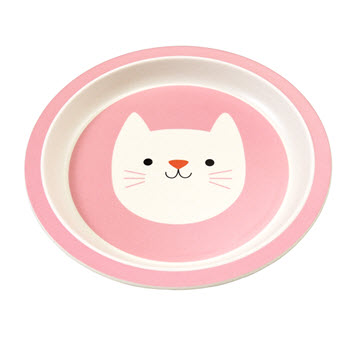 Rex London Bamboo Plate Cookie The Cat