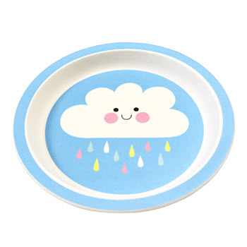 Rex Bamboo Plate - Happy Cloud