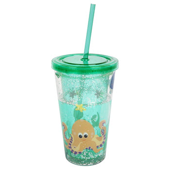 Sunnylife Glitter Under the Sea Tumbler