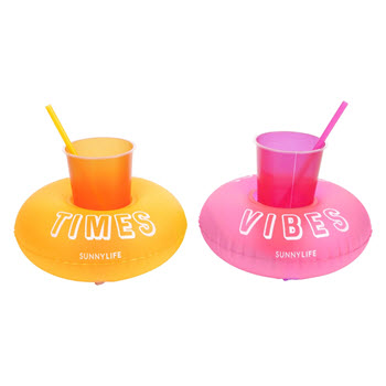Sunnylife  Inflatable Drinks Holder Party Malibu Set of 2