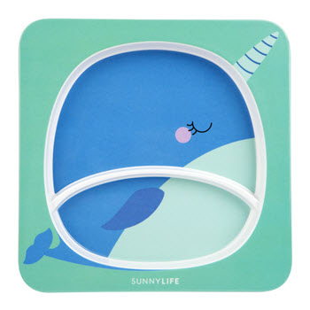 Sunnylife Kids Plate Narwhal