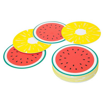 Sunnylife Set of 16 Pineapple & Watermelon Coasters