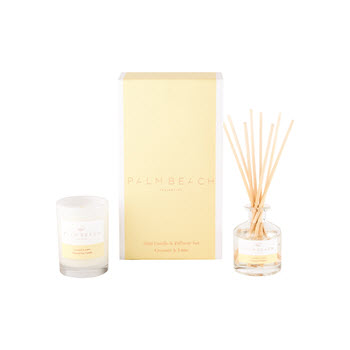 Palm Beach Mini Candle & Diffuser Coconut & Lime Set