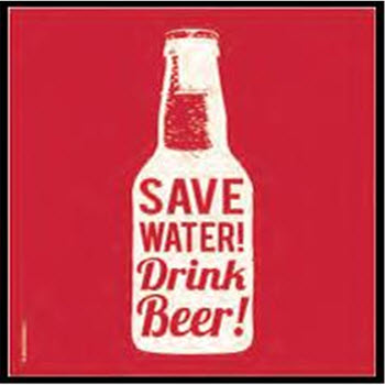 Thirstystone Box of 4 Save Water Drink Beer Coasters