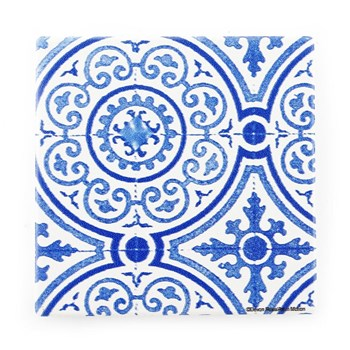 Thirstystone Mediterranean Dolomite Blue Guilded Opulence Trivet