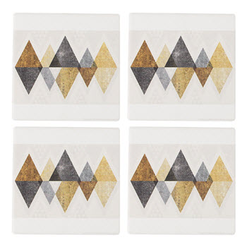 Thirstystone Set of 4 Triangles Gold Coasters