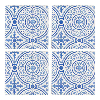 Thirstystone Box of 4 Blue Guilded Opulence Coasters