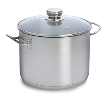Baccarat Entrée 12 Litre Stainless Steel 28cm Stockpot with Glass Lid