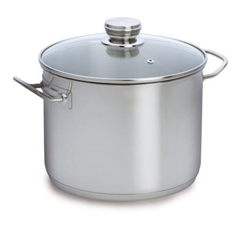 Baccarat 30cm Gourmet Stainless Steel Stockpot with Glass Lid 16.5 Litre