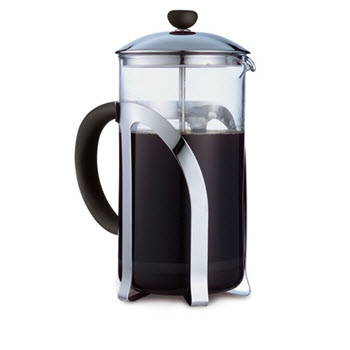 Baccarat Barista Venice 8 Cup French Press Coffee Plunger