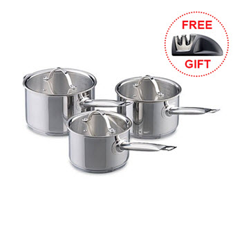 Baccarat Signature Stainless Steel 3 Piece Cookset