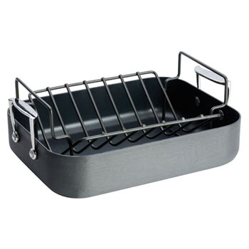 Baccarat iD3 Hard Anodised Roaster with Rack 40cm x 30cm