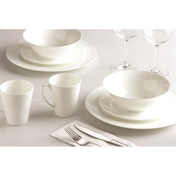 Alex Liddy Aquis 16 Piece Rim Dinner Set