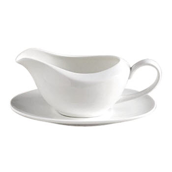 Alex Liddy Aquis Fine Bone China Gravy Boat with Saucer