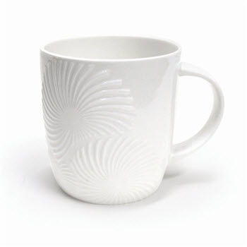 Alex Liddy Bianco Floral Textured Mug