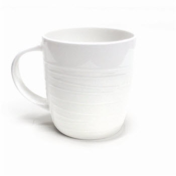 Alex Liddy Bianco Lines Textured Mug