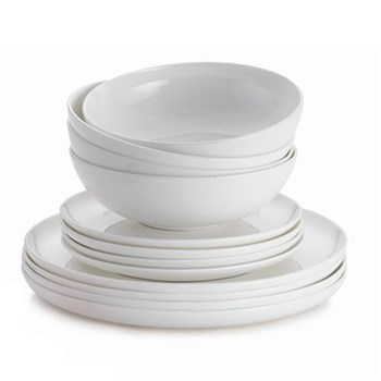 Alex Liddy Aquis 12 Piece Coupe Dinner Set
