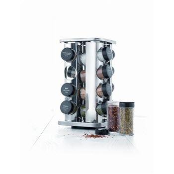 Baccarat Enhance 16 Jar Spice Carousel with Seasonings