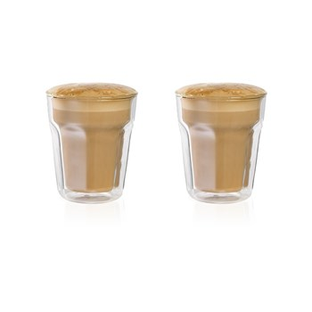 Baccarat Facet Double Wall Latte Glass 236ml Set of 2