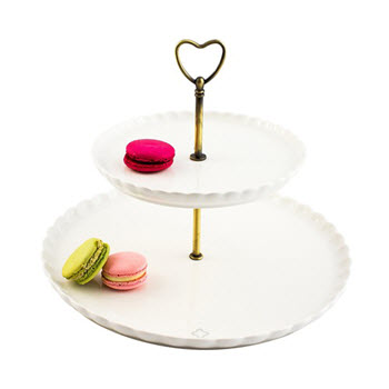 Marie Claire Clover 2-Tier Cake Stand