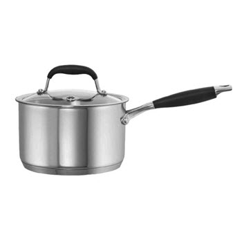 Baccarat Capri + 2.8L/18cm Stainless Steel Saucepan with Lid