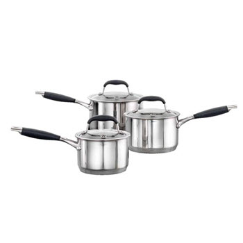 Baccarat Capri + Stainless Steel Cookset 3 Piece