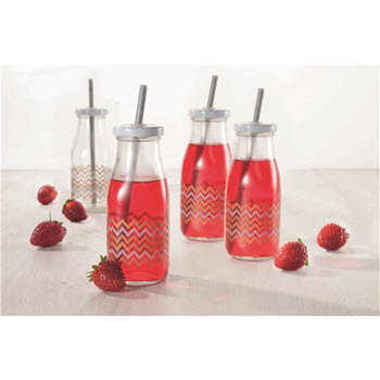 Marie Claire Brilliance Set of 4 Milk Bottles