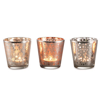 Marie Claire Brilliance Votive Candles Set of 3