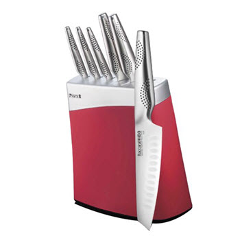 Baccarat ID3 Arashi 7 Piece Knife Block Red