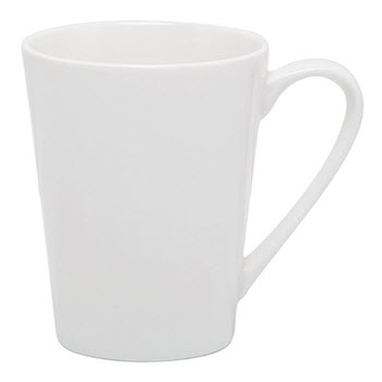 Alex Liddy Modern White 320ml Conical Mug