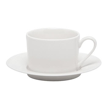 Alex Liddy Modern White 220ml Straight Cup & Saucer