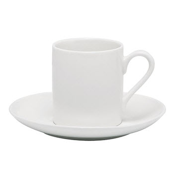 Alex Liddy Modern White 90ml Espresso Cup & Saucer