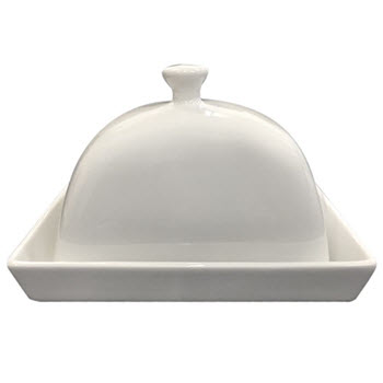 Alex Liddy Modern White Butter Dish