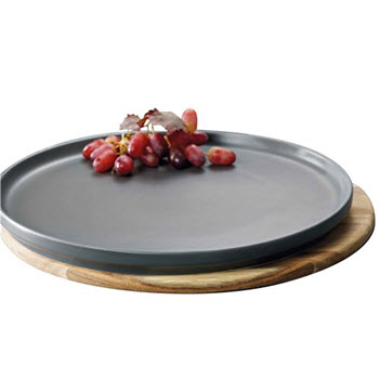 Alex Liddy Share Charcoal Round Platter 32cm