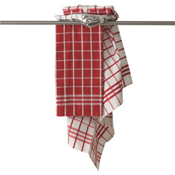 House Macy Set of 2 Tea Towels Red