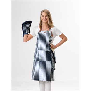 House Macy Apron Denim Stripe