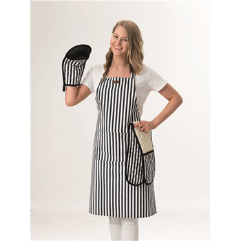 House Macy Apron Black Stripe