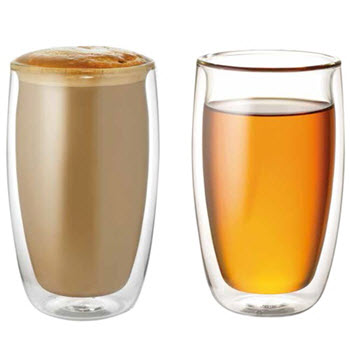 Baccarat Barista Tempo 350ml Double Wall Glass Set of 2
